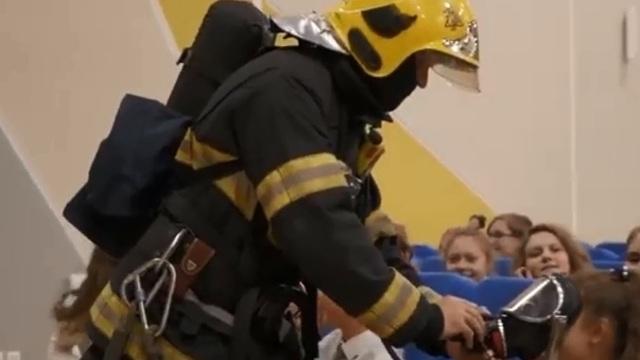 В самой большой школе Калининградской области прошли противопожарные учения