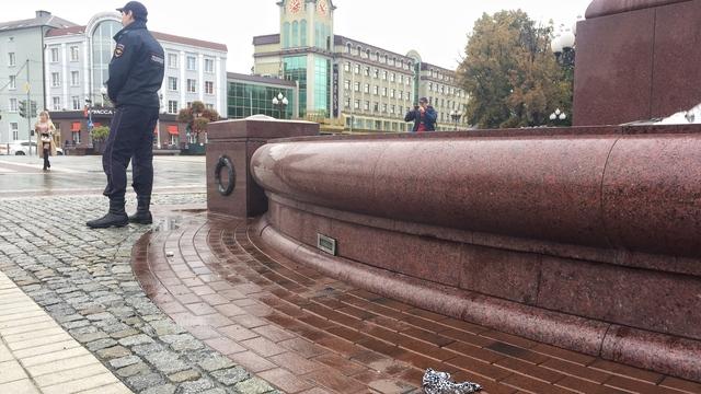 В центре Калининграда женщина пыталась себя поджечь