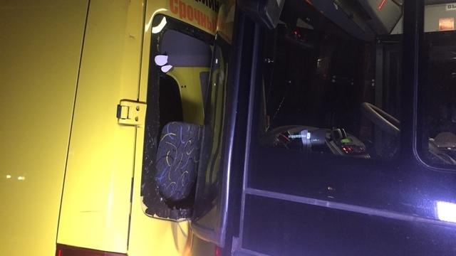 На Советском проспекте рейсовый автобус врезался в маршрутку на остановке (фото)