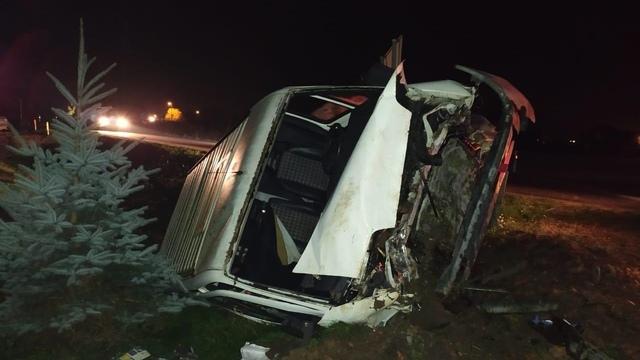 На трассе Зеленоградск — Приморск в ДТП пострадали водитель и пассажир микроавтобуса
