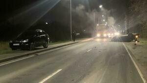 Первые минуты после смертельного ДТП на Мамоновском шоссе попали на видео