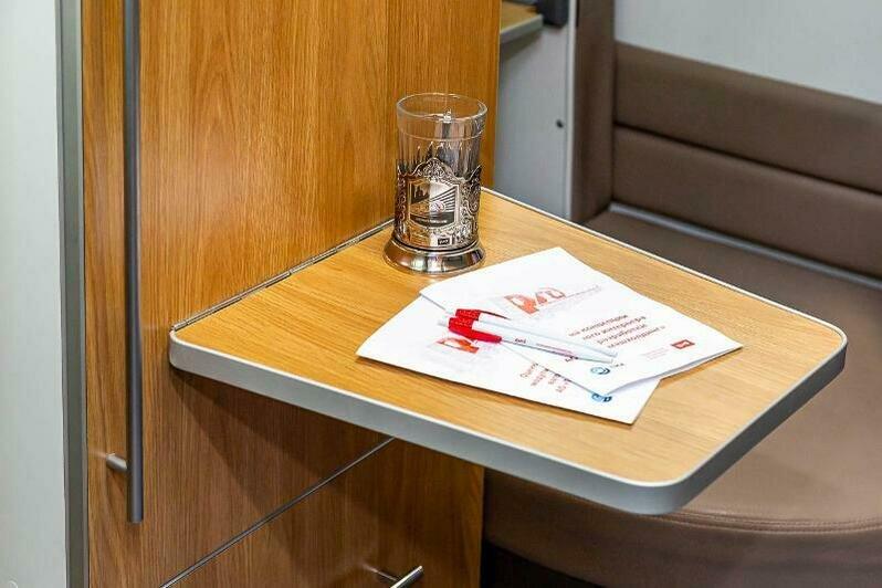 В РЖД показали макет плацкартного вагона со шторками на полках и  индивидуальными столиками - Новости Калининграда | Фото: ФПК