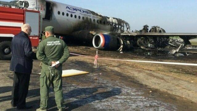 СКР назвал причину катастрофы Superjet 100 в Шереметьево