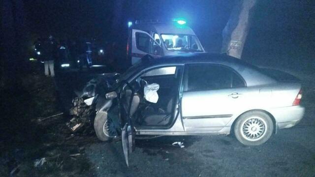 В Гурьевском районе Toyota врезалась в припаркованный Volkswagen, пострадал двухлетний мальчик (фото)
