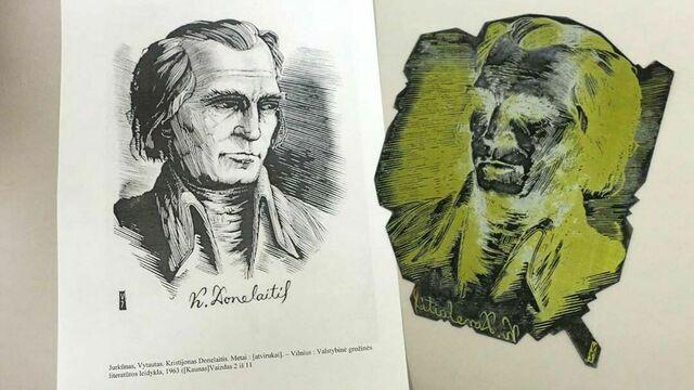 В Нестеровском районе на чердаке пасторского дома нашли гравюрное клише с портретом Донелайтиса