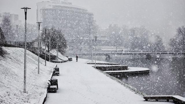 Снег в Калининграде