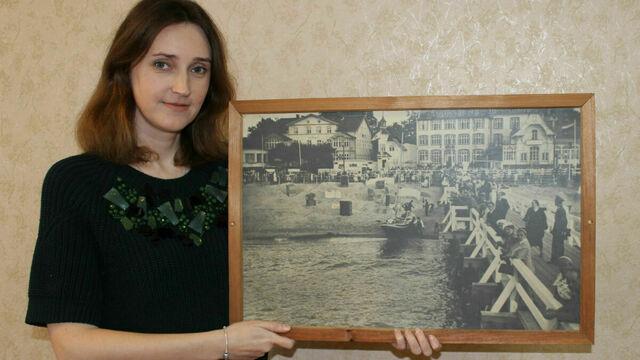 В Зеленоградске семья нашла в гараже фотокартину 85-летней давности с изображением пирса