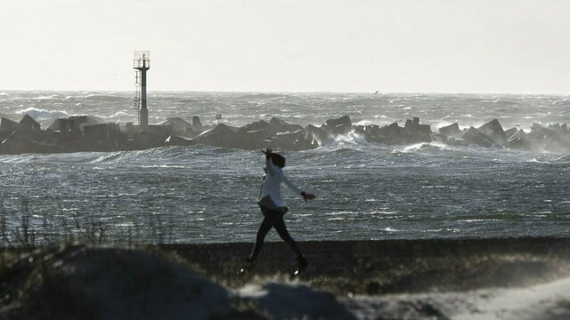 Брызги, волны, кайтсёрфинг: шторм на Балтийском море (фоторепортаж)