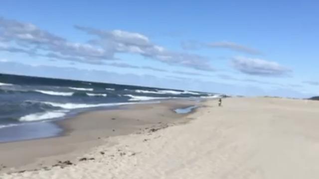 В Янтарном пляж начали готовить к туристическому сезону (видео)