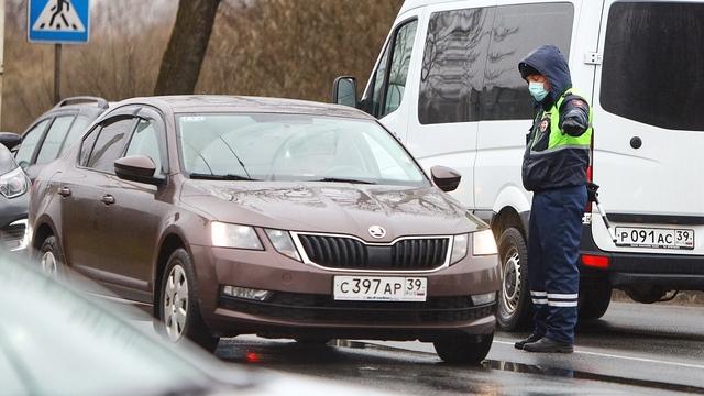 На въездах в Калининград ГИБДД с 16 апреля начнёт проверять у водителей и пассажиров справки с работы