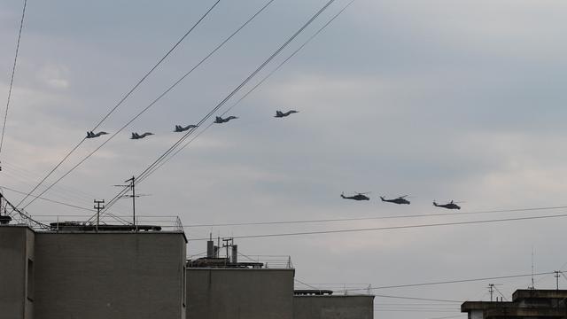 Первая репетиция выступления военной авиации на Параде Победы глазами калининградцев (фото, видео)