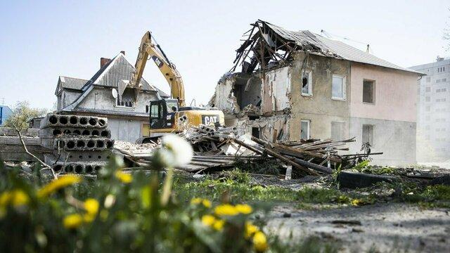 На Гагарина сносят дома для продолжения строительства Восточной эстакады: фоторепортаж