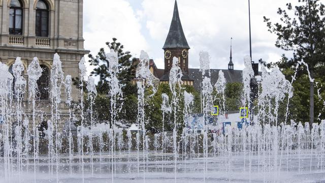 В Калининграде включили фонтаны (фоторепортаж)