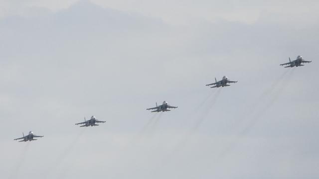 В Калининграде прошла репетиция воздушного парада