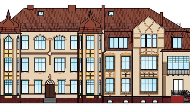 В Зеленоградске отремонтируют здание детсада, построенное в начале ХХ века (эскиз)