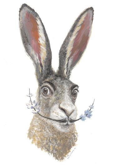 Сальвадор Дали в образе зайца | Фото: Мария Азизулова