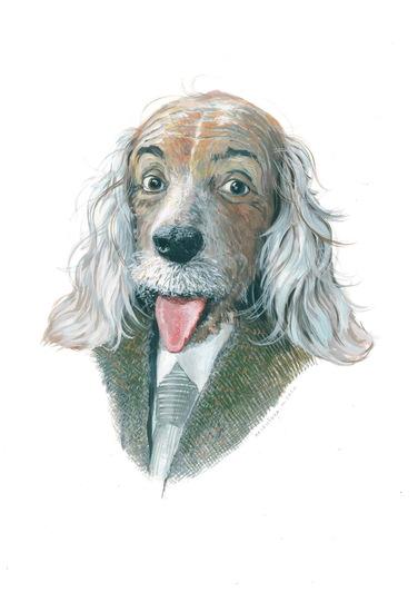 Альберт Эйнштейн в образе собаки | Фото: Мария Азизулова