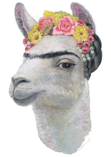 Фрида Кало в образе альпака | Фото: Мария Азизулова