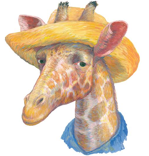 Ван Гог в образе жирафа | Фото: Мария Азизулова