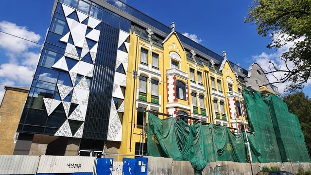 Как выглядит обновлённый фасад Кройц-аптеки