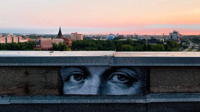Калининградская художница расклеила по городу