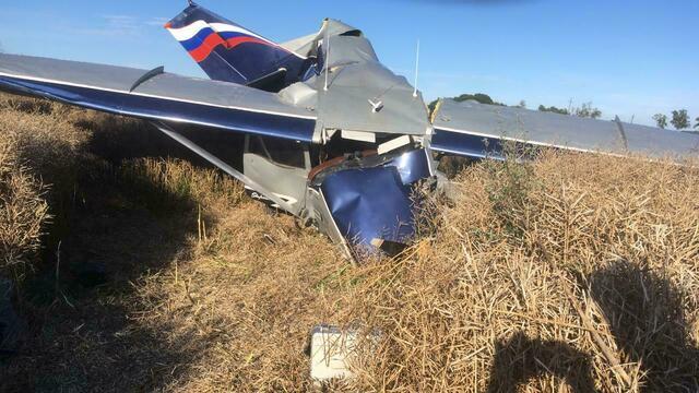 После падения легкомоторного самолёта под Калининградом возбудили уголовное дело (фото, видео)