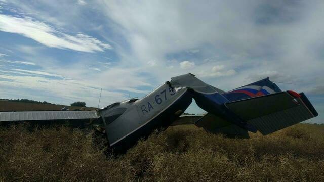 Два человека находятся в тяжёлом состоянии после аварии с самолётом под Калининградом
