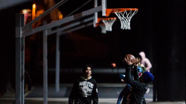 Баскетбольную площадку