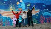 """""""Первые наброски смыл шторм"""": как возле солнечных часов в Светлогорске рисовали граффити (фото)"""