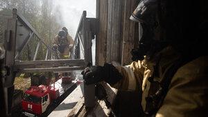Дети подожгли штору: источник назвал предварительную причину пожара в квартире на ул. Гагарина