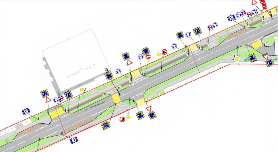 Работы на полгода: Что сделают на Автомобильной в Калининграде в следующем году (проект) - Новости Калининграда