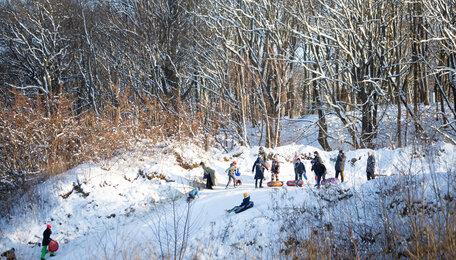 Где калининградцы катаются на снежных горках: фото