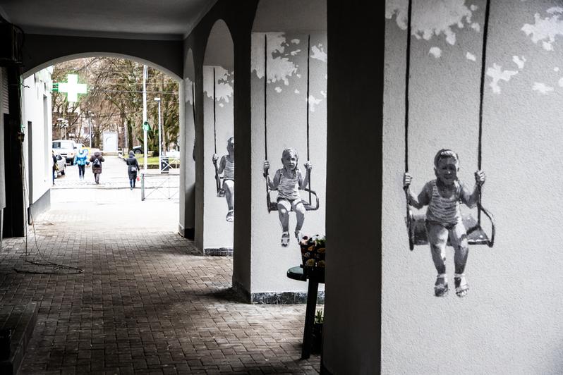 "Фото дня: дом с граффити на ул. Леонова - Новости Калининграда | Александр Подгорчук / ""Клопс"""