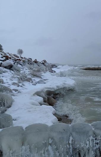 В Калининградской области замерзает море (фото) - Новости Калининграда | Фото: Андрей Филиппов
