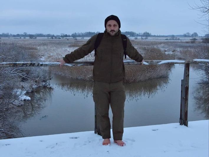 Гуляющий босиком в любое время года калининградец рассказал, как пережил февральские морозы - Новости Калининграда | Фото: личный архив Павла Загацкого