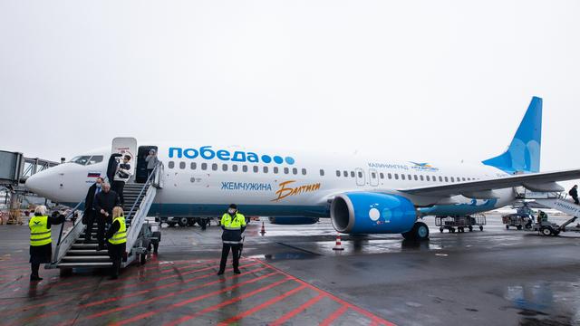 В Храброво прибыл первый самолёт с ливреей