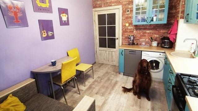 Та самая рамка и фиалковая стена: калининградка сделала ремонт в кухне, как у Моники из сериала