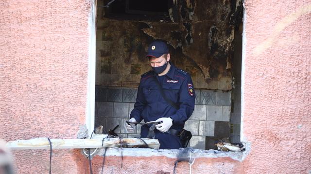 Взрыв газа в жилом доме на Леонова в Калининграде (фоторепортаж)