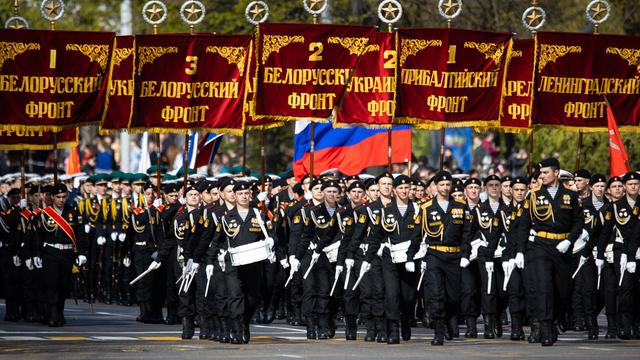 «Хризантемы», «Гиацинты», «Сани»: в Калининграде прошёл Парад Победы (фото, видео)