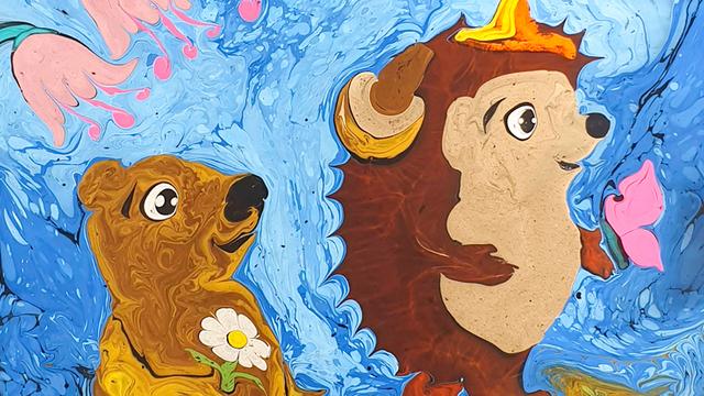 В Светлогорске перенесли сказочный спектакль на воде «Про Ёжика и Медвежонка»