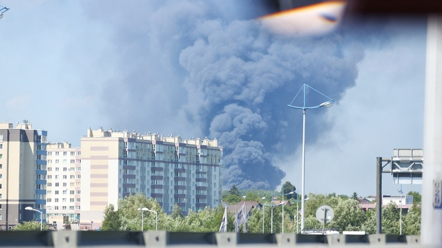 Пожар на территории «Мираторга»