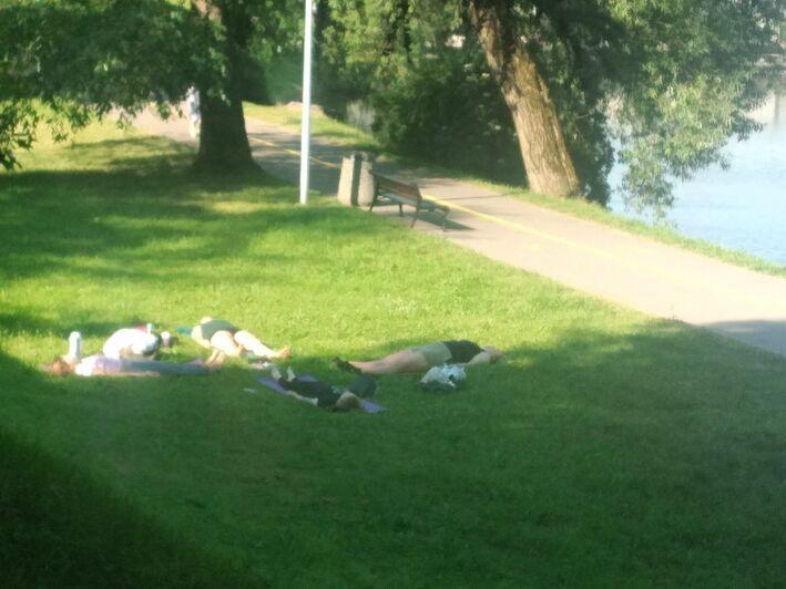 Отдыхающие на Нижнем озере | Фото очевидца