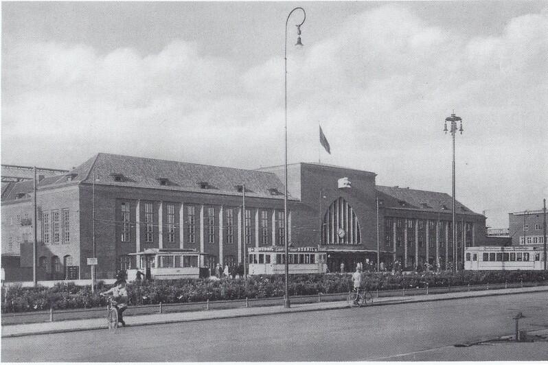 Главный (ныне Южный) вокзал Кёнигсберга | Фото 1930 года