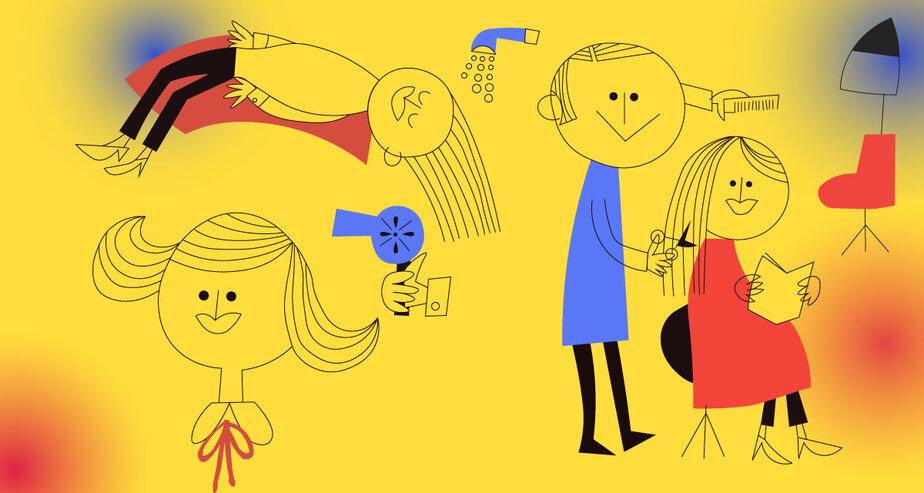 «Обрила девушку налысо»: как зарабатывают на стрижках в Калининграде — исповедь профессионала - Новости Калининграда | Иллюстрация: Евгения Будадина / «Клопс»