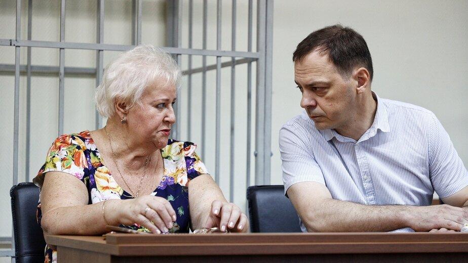 Людмила Осипова и Дмитрий Новиков в процессе | Фото: Александр Подгорчук