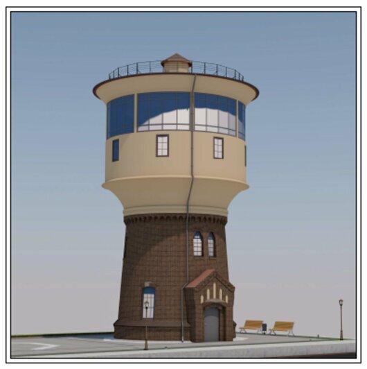 В Гусеве отремонтируют старинные водонапорные башни (эскизы) - Новости Калининграда   Эскизы: проектная документация