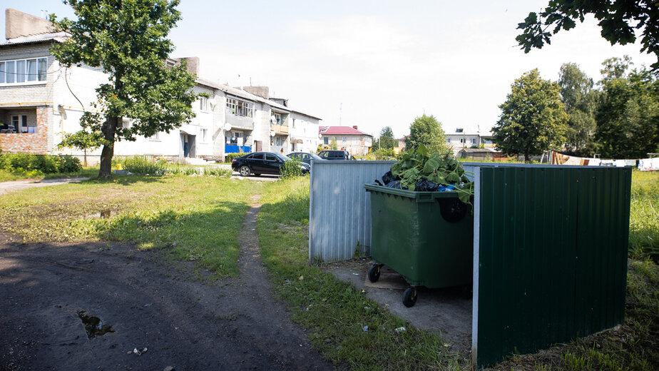 На фото: мусорный контейнер, куда Лилия выбросила ребёнка | Фото: Александр Подгорчук / «Клопс»