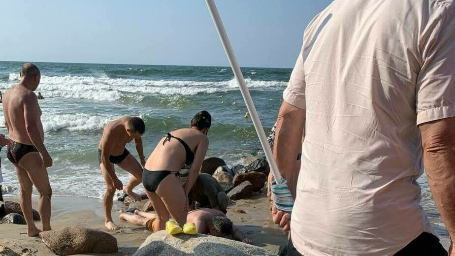 Пляж в Светлогорске | Фото очевидца