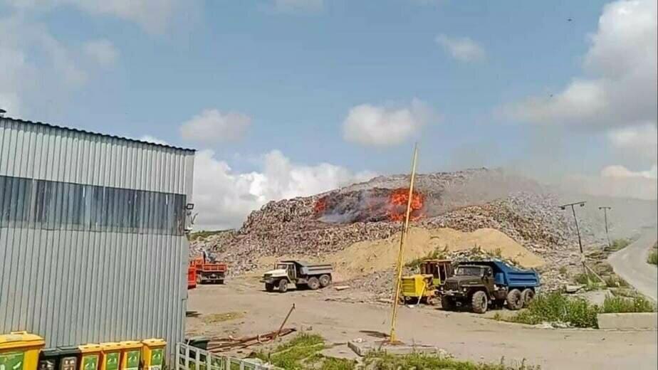 Росприроднадзор проводит проверку после пожара на мусорном полигоне в Круглово - Новости Калининграда | Фото: «Зелёный фонд»