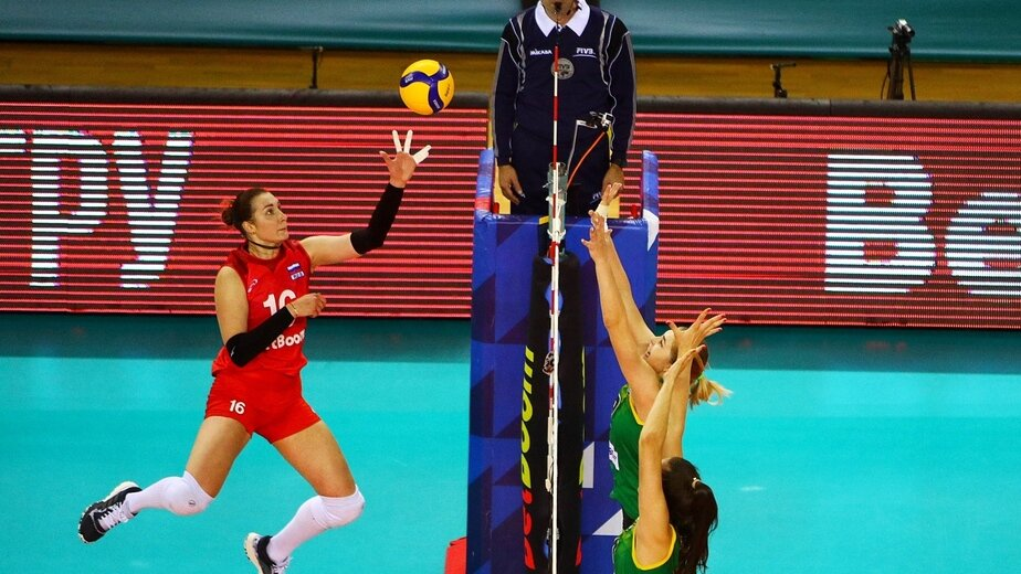 На снимке Ирина Воронкова, игрок женской сборной России по волейболу   Фото: Александр Подгорчук